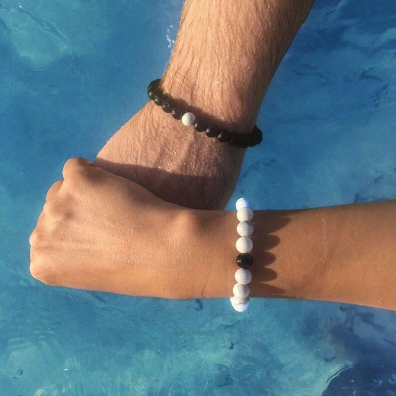 Beaded Long Distance Relationship Bracelets by Believe London Co