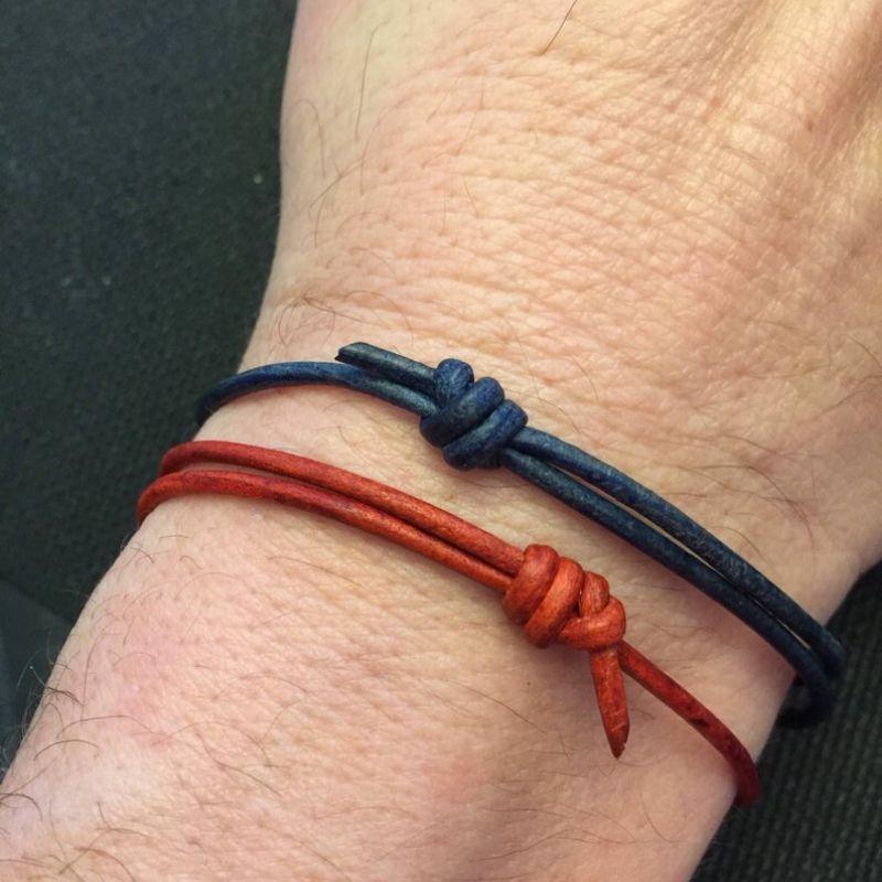 Minimalist Leather Couples Bracelets by Jennifer Jade