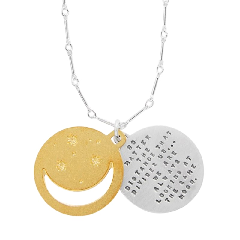 Under The Same Moon Pendant by Kathy Bransfield